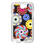 Colorful Retro Circular Pattern Samsung Galaxy Note 2 Case (White) Front