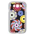 Colorful Retro Circular Pattern Samsung Galaxy Grand DUOS I9082 Case (White) Front