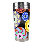 Colorful Retro Circular Pattern Stainless Steel Travel Tumblers Center