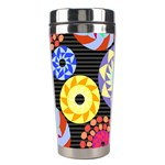 Colorful Retro Circular Pattern Stainless Steel Travel Tumblers Right