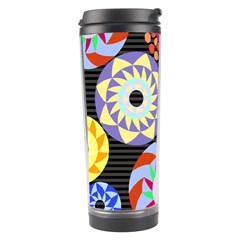 Colorful Retro Circular Pattern Travel Tumbler