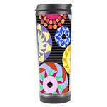 Colorful Retro Circular Pattern Travel Tumbler Center