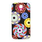 Colorful Retro Circular Pattern Samsung Galaxy S4 I9500/I9505  Hardshell Back Case Front