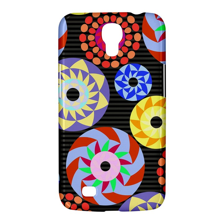 Colorful Retro Circular Pattern Samsung Galaxy Mega 6.3  I9200 Hardshell Case