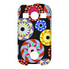 Colorful Retro Circular Pattern Samsung Galaxy S7710 Xcover 2 Hardshell Case