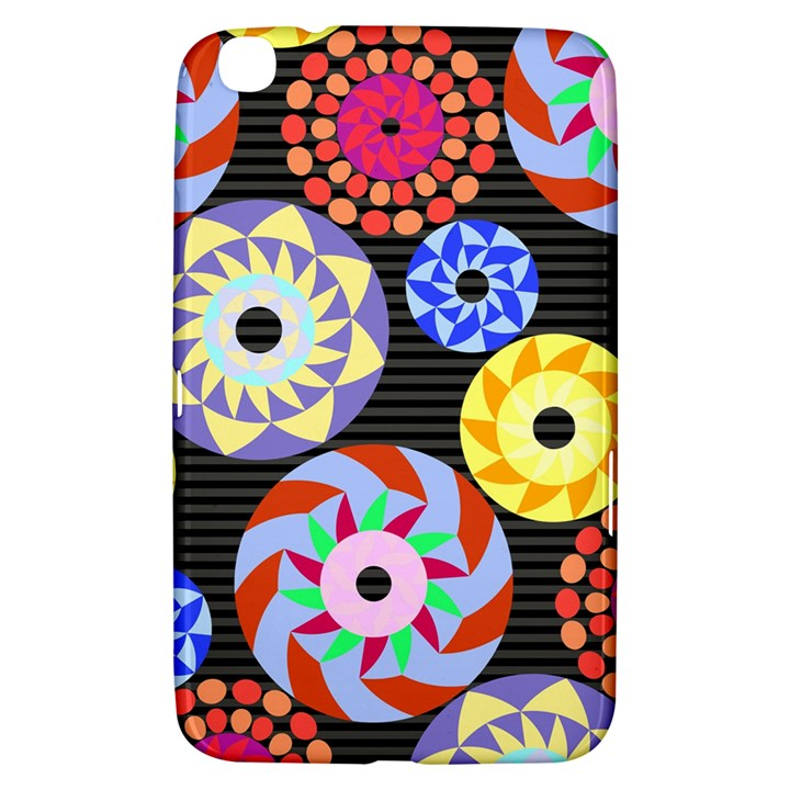 Colorful Retro Circular Pattern Samsung Galaxy Tab 3 (8 ) T3100 Hardshell Case