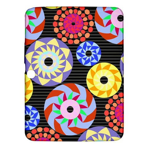Colorful Retro Circular Pattern Samsung Galaxy Tab 3 (10.1 ) P5200 Hardshell Case