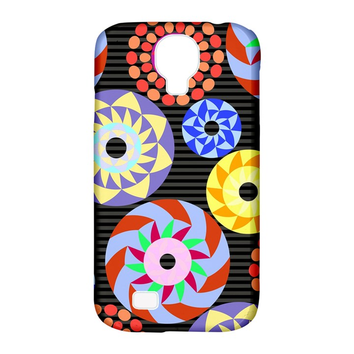 Colorful Retro Circular Pattern Samsung Galaxy S4 Classic Hardshell Case (PC+Silicone)