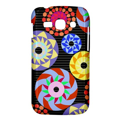 Colorful Retro Circular Pattern Samsung Galaxy Ace 3 S7272 Hardshell Case
