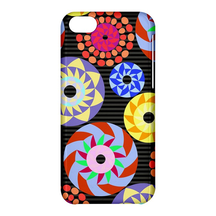 Colorful Retro Circular Pattern Apple iPhone 5C Hardshell Case