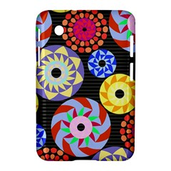 Colorful Retro Circular Pattern Samsung Galaxy Tab 2 (7 ) P3100 Hardshell Case