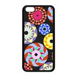 Colorful Retro Circular Pattern Apple iPhone 5C Seamless Case (Black) Front