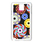 Colorful Retro Circular Pattern Samsung Galaxy Note 3 N9005 Case (White) Front