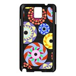 Colorful Retro Circular Pattern Samsung Galaxy Note 3 N9005 Case (Black) Front
