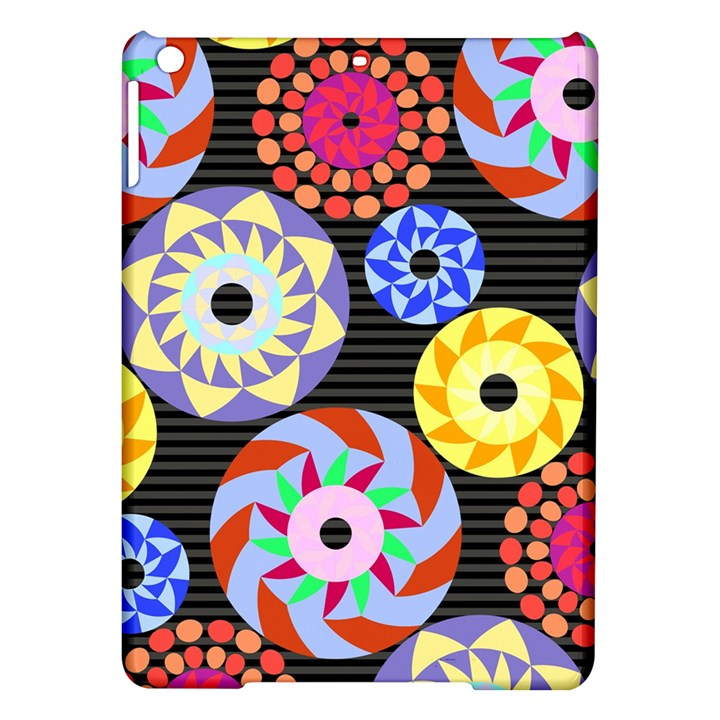 Colorful Retro Circular Pattern iPad Air Hardshell Cases