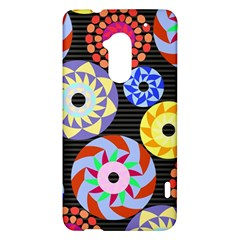Colorful Retro Circular Pattern HTC One Max (T6) Hardshell Case