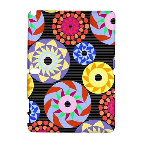 Colorful Retro Circular Pattern Samsung Galaxy Note 10.1 (P600) Hardshell Case