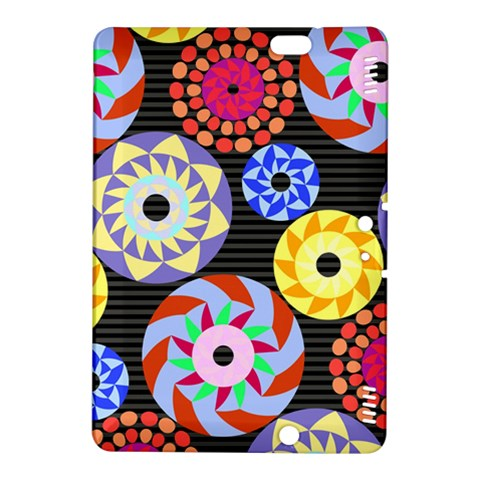 Colorful Retro Circular Pattern Kindle Fire HDX 8.9  Hardshell Case