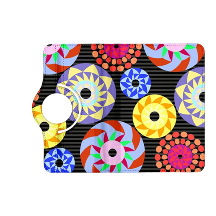 Colorful Retro Circular Pattern Kindle Fire HD (2013) Flip 360 Case