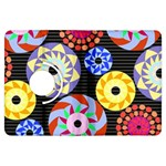 Colorful Retro Circular Pattern Kindle Fire HDX Flip 360 Case Front