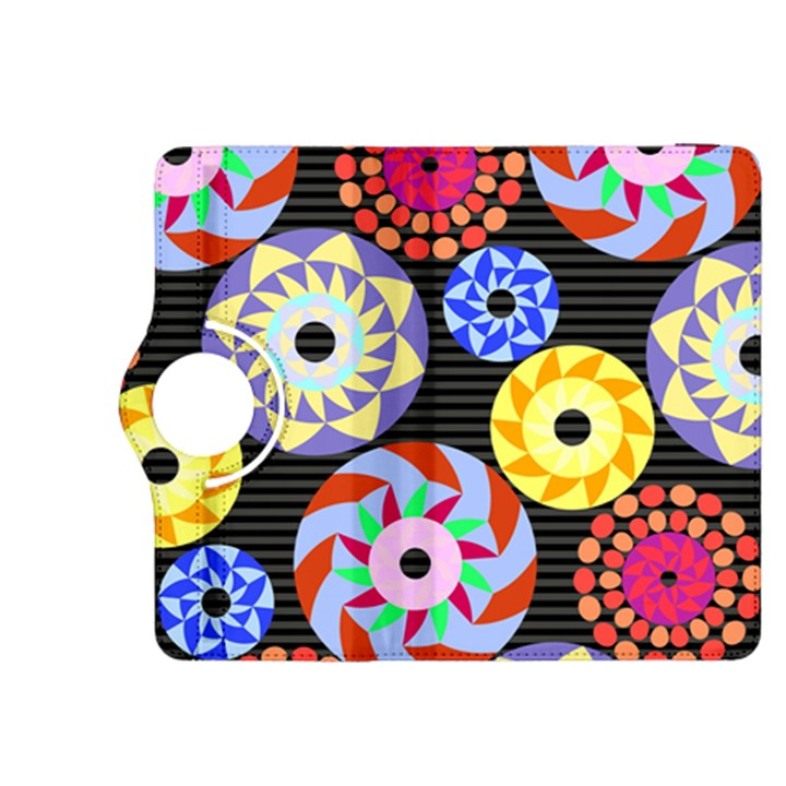 Colorful Retro Circular Pattern Kindle Fire HDX 8.9  Flip 360 Case