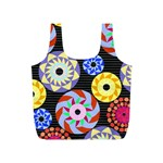 Colorful Retro Circular Pattern Full Print Recycle Bags (S)  Front