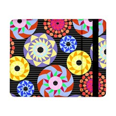 Colorful Retro Circular Pattern Samsung Galaxy Tab Pro 8 4  Flip Case