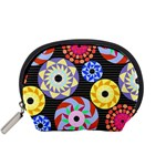 Colorful Retro Circular Pattern Accessory Pouches (Small)  Front