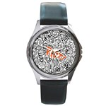 Paramore Is An American Rock Band Round Metal Watch Front