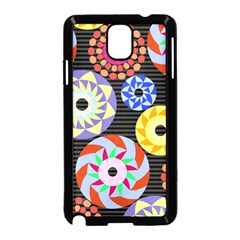 Colorful Retro Circular Pattern Samsung Galaxy Note 3 Neo Hardshell Case (Black)
