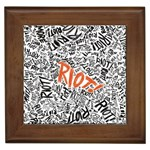 Paramore Is An American Rock Band Framed Tiles Front