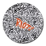 Paramore Is An American Rock Band Round Mousepads Front