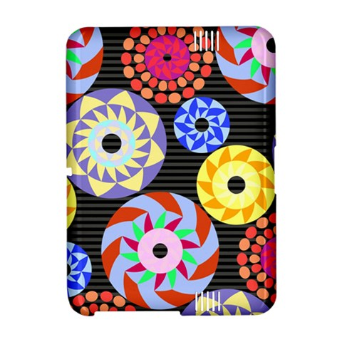 Colorful Retro Circular Pattern Amazon Kindle Fire (2012) Hardshell Case