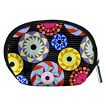 Colorful Retro Circular Pattern Accessory Pouches (Medium)  Back