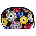 Colorful Retro Circular Pattern Accessory Pouches (Large)  Back