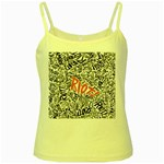 Paramore Is An American Rock Band Yellow Spaghetti Tank Front