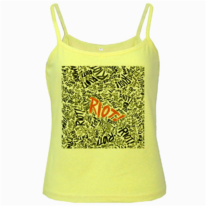 Paramore Is An American Rock Band Yellow Spaghetti Tank