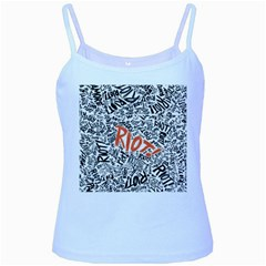 Paramore Is An American Rock Band Baby Blue Spaghetti Tank