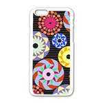 Colorful Retro Circular Pattern Apple iPhone 6/6S White Enamel Case Front