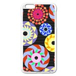 Colorful Retro Circular Pattern Apple iPhone 6 Plus/6S Plus Enamel White Case Front