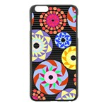 Colorful Retro Circular Pattern Apple iPhone 6 Plus/6S Plus Black Enamel Case Front
