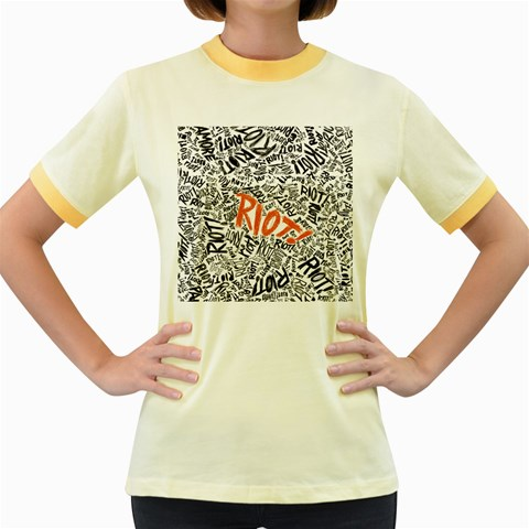 Paramore Is An American Rock Band Women s Fitted Ringer T-Shirts