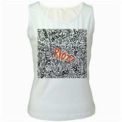 Paramore Is An American Rock Band Women s White Tank Top