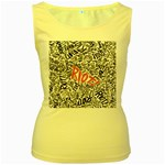 Paramore Is An American Rock Band Women s Yellow Tank Top Front
