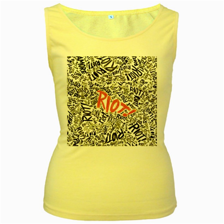 Paramore Is An American Rock Band Women s Yellow Tank Top