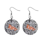 Paramore Is An American Rock Band Mini Button Earrings Front