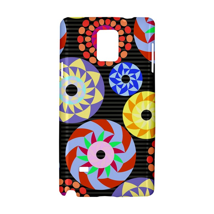 Colorful Retro Circular Pattern Samsung Galaxy Note 4 Hardshell Case