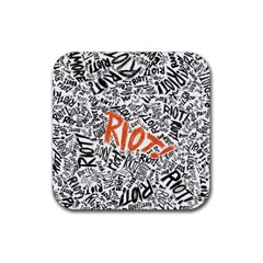 Paramore Is An American Rock Band Rubber Coaster (square)