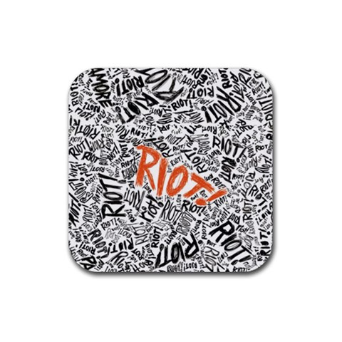 Paramore Is An American Rock Band Rubber Square Coaster (4 pack)