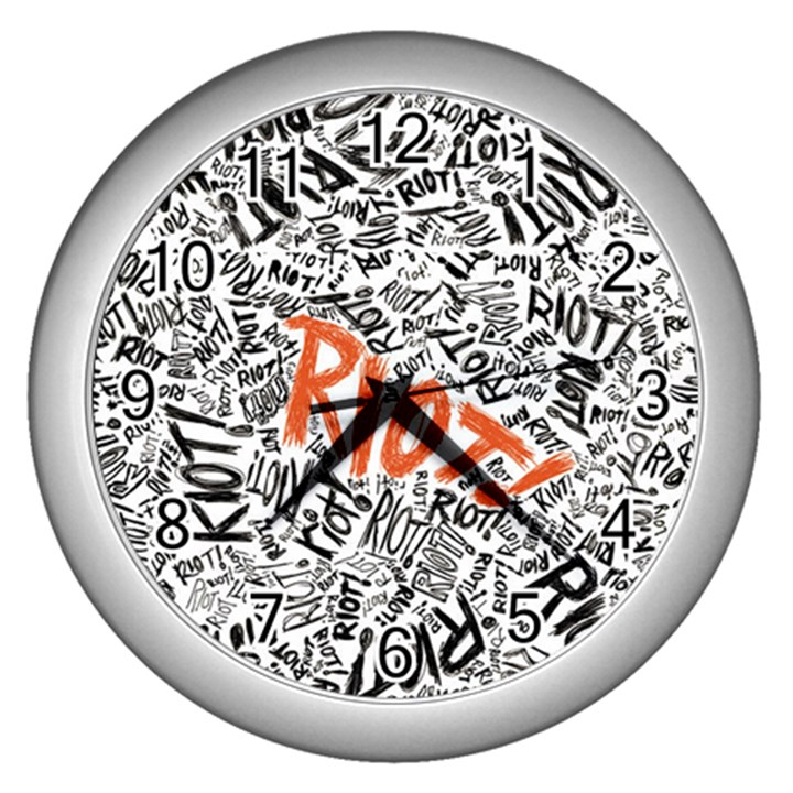 Paramore Is An American Rock Band Wall Clocks (Silver)